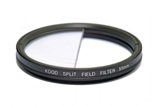 Split Field Filter +2 Diopter 55mm in Slim Rotating Ring Split-Field 55mm Filter